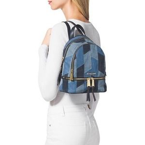 Michael Kors Rhea Denim Backpack